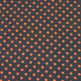 Grijs oranje stip groot