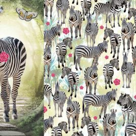 Panel Zebra French terry